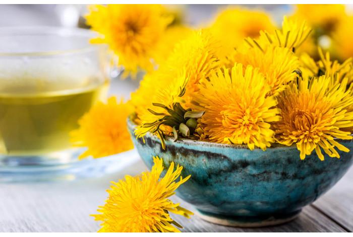 Модульная картина Жёлтые одуванчики в чаше