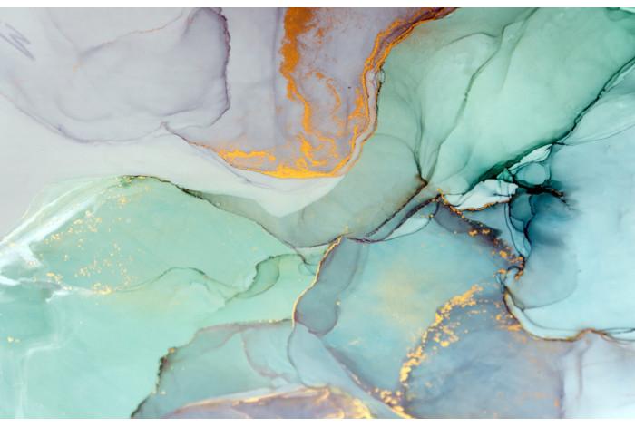 Модульная картина с часами  Текстура мрамор
