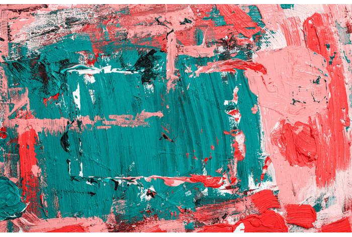 Модульная картина Розовые мазки