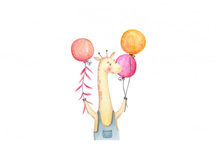 Картина Жираф с шариками