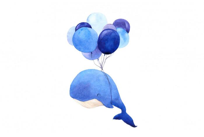 Картина Кит с шариками