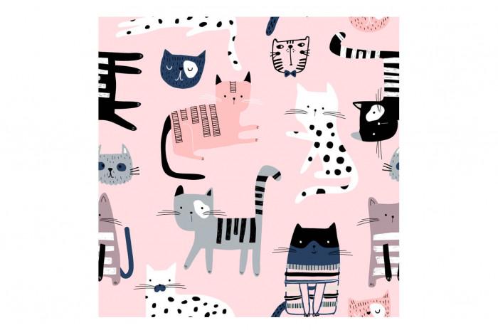 Картина Коты на розовом