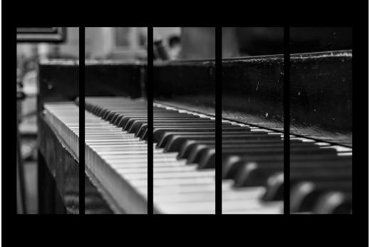 Модульная картина Пианино