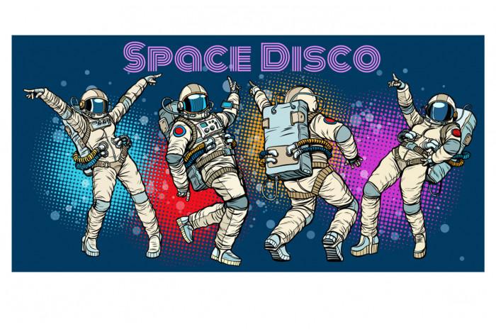 Постер Поп-арт Космическое диско