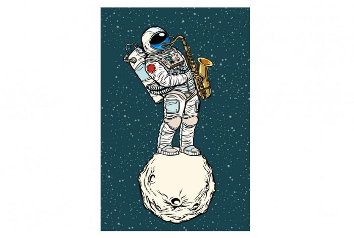 Постер Поп-арт Музыкальный космонавт