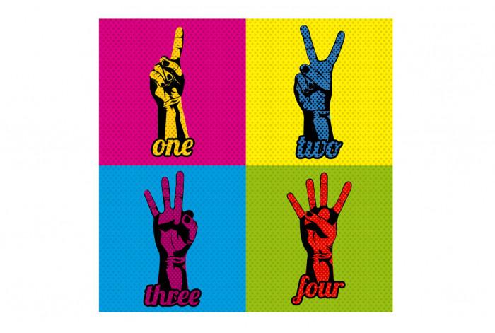 Постер Поп-арт Один-четыре