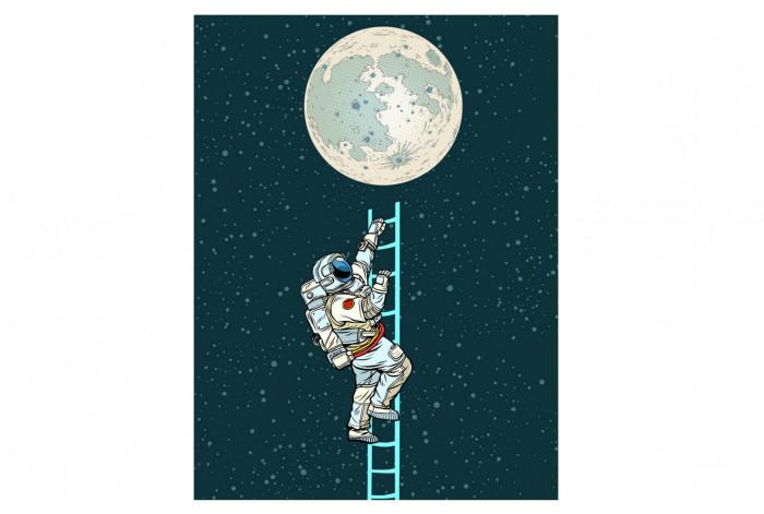 Постер Поп-арт Путь к Луне