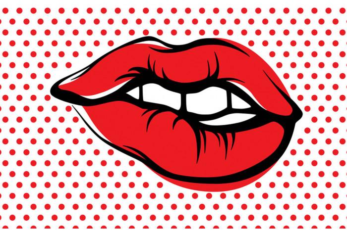 Постер Поп-арт Красные губы