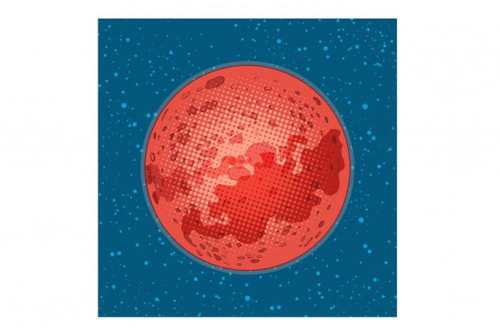 Постер Поп-арт Марс